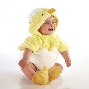 Pottery Barn Kids Chick Halloween Costume 6-12 Mo